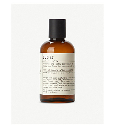 LE LABO Oud 27 bath and body oil 120ml