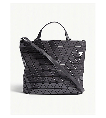 BAO BAO ISSEY MIYAKE Crystal gloss shoulder bag (Charcoal+grey