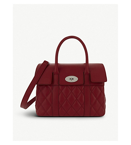 MULBERRY Bayswater small quilted shoulder bag (Scarlet