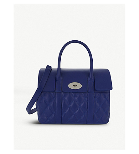 MULBERRY Bayswater small quilted shoulder bag (Royal+blue