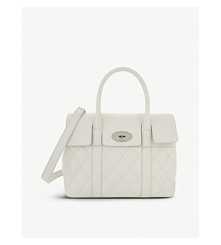 MULBERRY Bayswater small quilted shoulder bag (White
