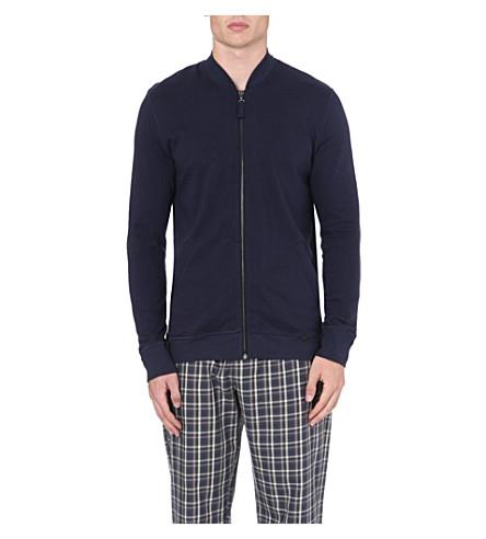 HANRO Heavy zip sweatshirt (Navy