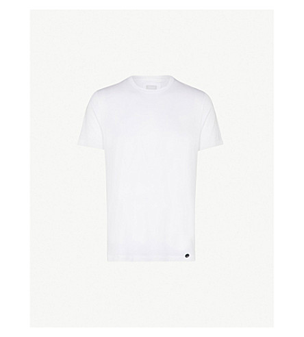 HANRO Crew neck cotton-jersey t-shirt (White