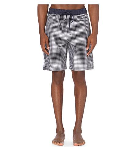 HANRO Geometric-print cotton shorts (Black