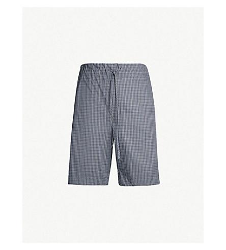 HANRO 几何打印棉短裤(灰色
