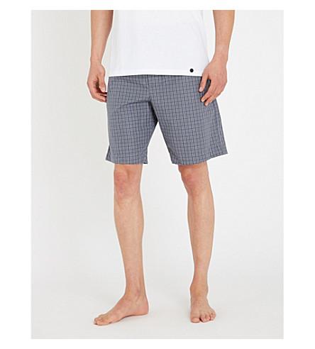 HANRO几何印花棉质短裤 (灰色