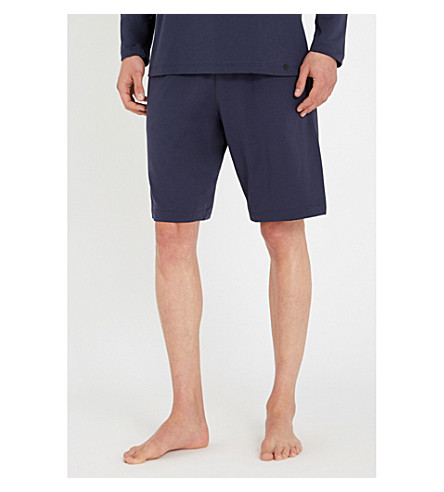 HANRO Cotton sweat shorts (Navy
