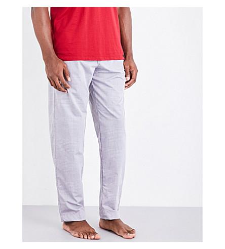 HANRO Drawstring cotton pyjama trousers (Lt+grey