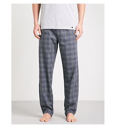 HANRO Graphic clover-print cotton pyjama bottoms (Dk+grey