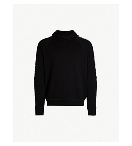 DSQUARED2 Logo tape cotton-jersey hoody (Black
