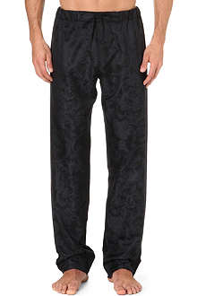VERSACE Silk baroque pyjama bottoms