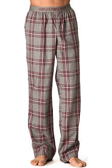 ARMANI Checked pyjama bottoms