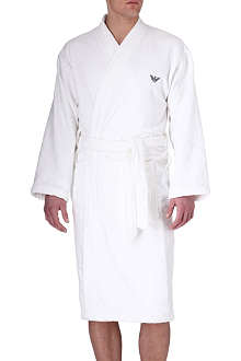 ARMANI Logo-detailed bathrobe