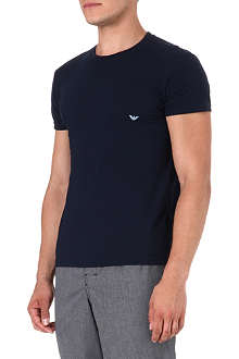 ARMANI Pure cotton round-neck t-shirt