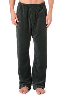 ARMANI Plain velour trousers