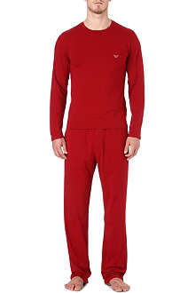 ARMANI Stretch cotton two-piece pyjama set