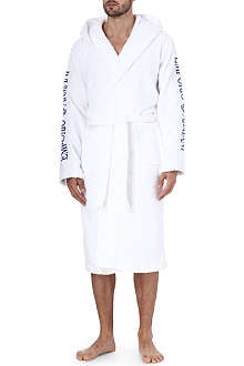 ARMANI Sponge sleeve logo bathrobe