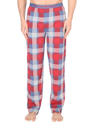 EMPORIO ARMANI Check cotton pyjama trousers