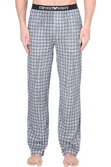 EMPORIO ARMANI Mini check cotton pyjama bottoms