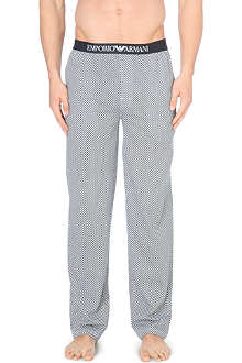 EMPORIO ARMANI Checkerboard cotton pyjama trouser