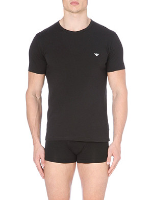 EMPORIO ARMANI Cotton Armani log t-shirt