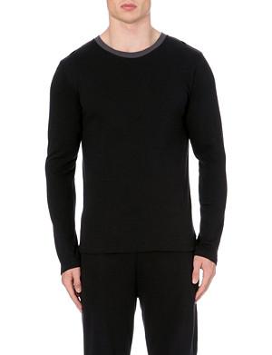 EMPORIO ARMANI Brand-logo jersey pyjama top