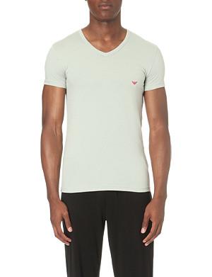 EMPORIO ARMANI V-neck stretch-cotton t-shirt