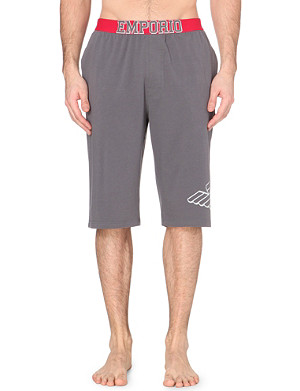 EMPORIO ARMANI Cotton-blend eagle shorts
