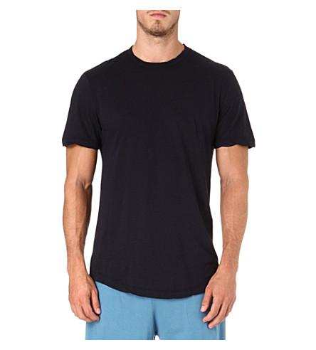 JAMES PERSE Crew-neck cotton t-shirt (Midnight