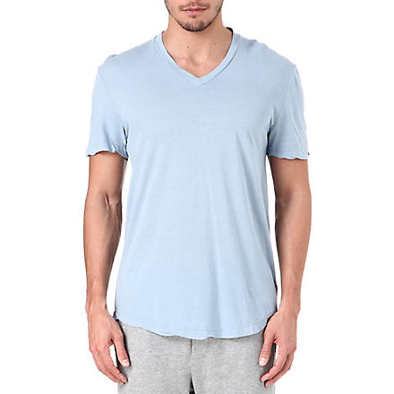JAMES PERSE Cotton jersey t-shirt (Bluestone