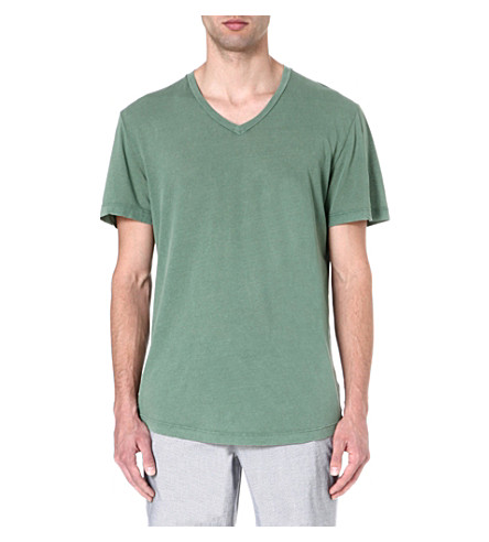 JAMES PERSE Cotton jersey t-shirt (Meadow