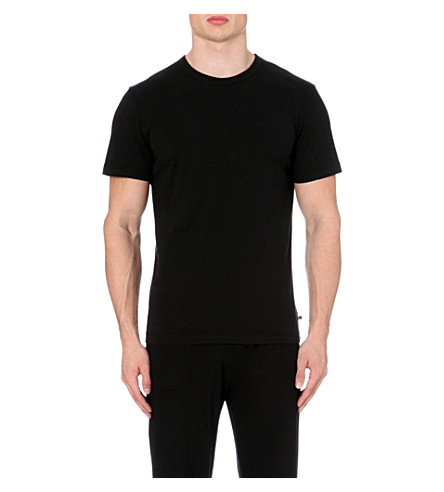 JAMES PERSE Combed-cotton t-shirt (Black