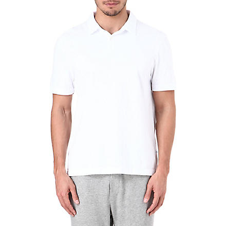 JAMES PERSE Cotton-jersey polo shirt (White
