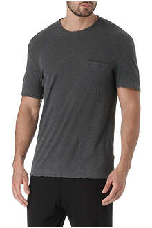 JAMES PERSE Slub-jersey pocket crew t-shirt