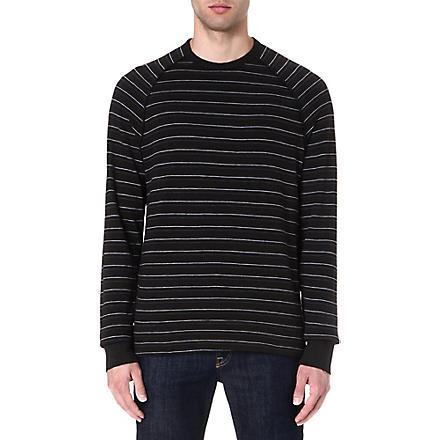 JAMES PERSE Striped sweatshirt (Carbon