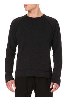 JAMES PERSE Slub-jersey baseball sweatshirt