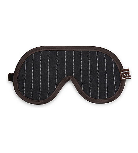 OTIS BATTERBEE LTD Striped eye mask (Grey+brown