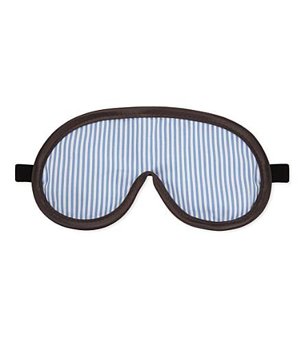 OTIS BATTERBEE LTD Striped eye mask (Navy white