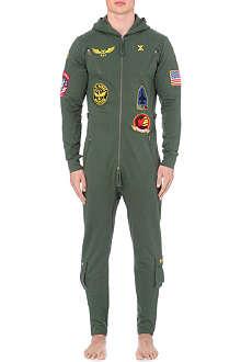 ONEPIECE Aviator cotton-jersey onesie