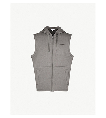 CALVIN KLEIN Perforated jersey gilet (Grey