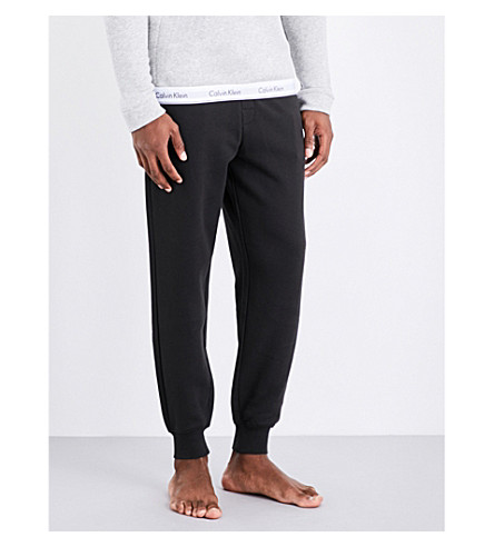 CALVIN KLEIN Modern cotton-blend jogging bottoms (Black