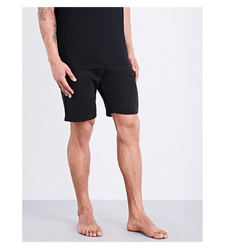 CALVIN KLEIN Logo-print cotton-blend shorts (Black