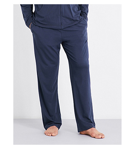 CALVIN KLEIN Infinite cotton-modal pyjama bottoms (Carbon+blue