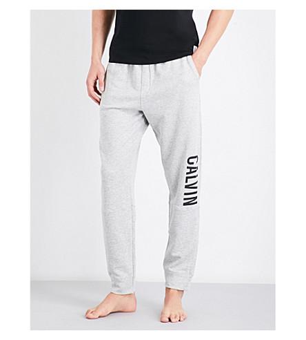 CALVIN KLEIN Logo-print cotton-blend jogging bottoms (Lt+grey