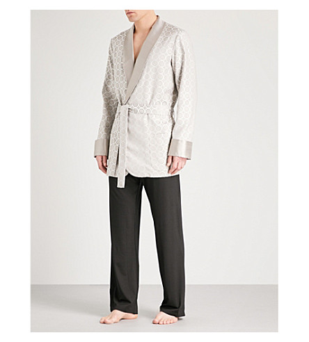 LA PERLA Royal Theatre silk-blend robe (Ivory