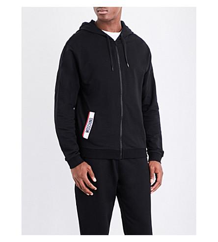 Tape jersey detailed cotton MOSCHINO MOSCHINO hoody Black Tape XwtqESxq