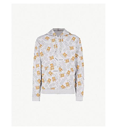 MOSCHINO Bear-print cotton-jersey hoody (Grey