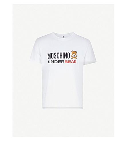 MOSCHINO Underbear logo-print stretch-cotton T-shirt (White