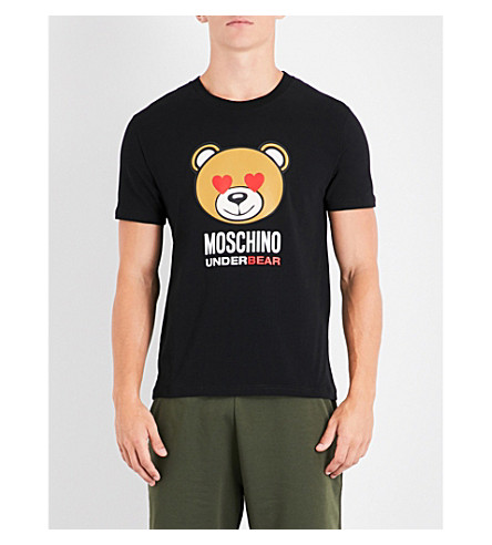 MOSCHINO Heart Eye jersey T-shirt (Black