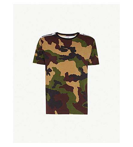 MOSCHINO Camouflage-print stretch-cotton T-shirt (Camo